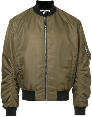 McQ gathered sleeves bomber jacket