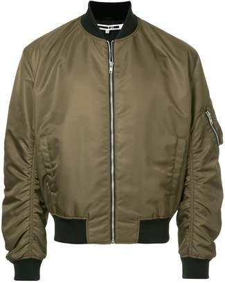 McQ gathered sleeves bomber jacket