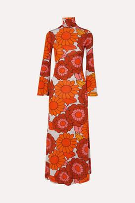 Dodo Bar Or Brigitte Floral-print Stretch-jersey Dress - Orange