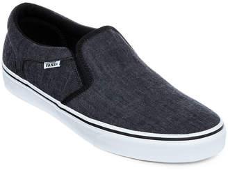 Vans Asher Distressed Mens Athletic Slip-On Skate Shoes