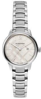 Burberry Classic Round Stainless Steel Bracelet Watch