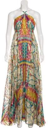 Nicole Miller Printed Maxi Dress w/ Tags