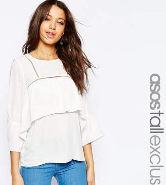 Asos Tall TALL Blouse With Frill & Trim Detail