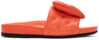 Anya Hindmarch Red Chubby Heart Slides