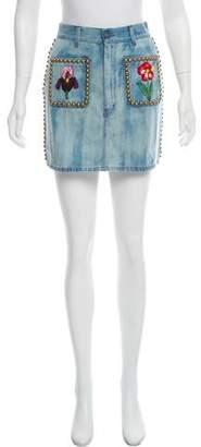 Gucci 2017 Denim Mini Skirt
