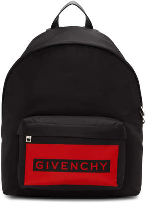 Givenchy Red and Black Urban Ice Cooler Backpack