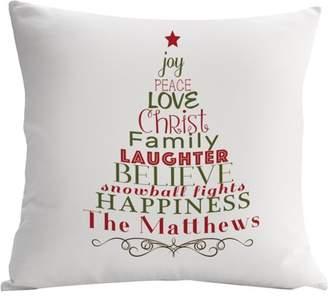 MonogramOnline Custom Gifts Christmas Tree Decorative Cushion Cover