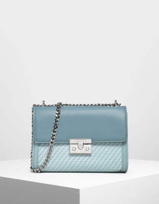 Charles & Keith Woven Detail Clutch