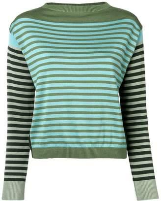 Alberta Ferretti striped long-sleeve sweater
