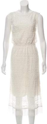 Alice + Olivia Sleeveless Lace Midi Dress w/ Tags