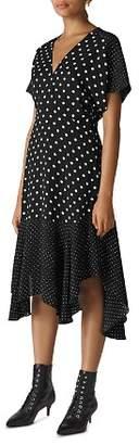 Whistles Victoria Dot-Print Midi Dress
