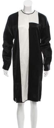 Zero Maria Cornejo Long Sleeve Knee-Length Dress