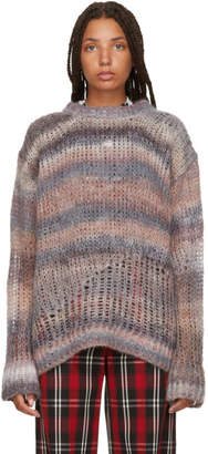 Acne Studios Multicolor Striped Open Weave Sweater