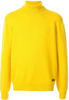 Brioni turtleneck fine knit jumper