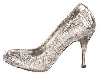 Dolce & Gabbana Foiled Leather Pumps