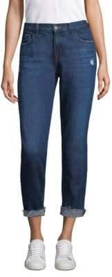 J Brand Johnny Cuffed Boyfriend Jeans