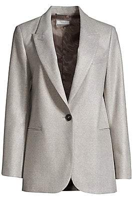 Peserico Women's Sparkle Single Breasted Jacket
