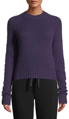 Vince Shrunken Mock-Neck Cashmere Sweater