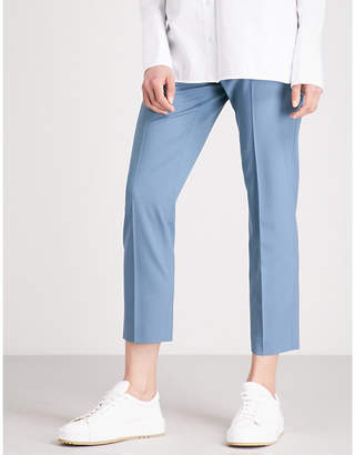 Theory Treeca cropped stretch-wool tapered trousers
