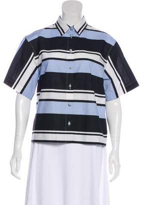 Dolce & Gabbana Striped Button-Up Top