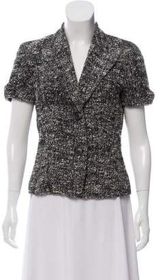 Michael Kors Bouclé Short Sleeve Blazer