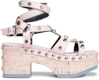McQ Studded Leather Platform Sandals