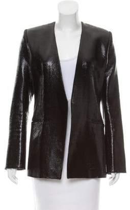 Balmain Metallic Wool Blazer Black Metallic Wool Blazer