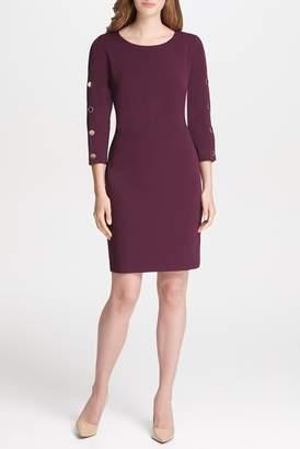 Iconic American Designer 3/4 Sleeve Knit Dress
