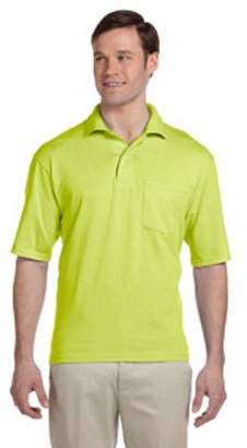 JERZEES Jerzees Adult 5.6 oz. SpotShield Pocket Jersey Polo