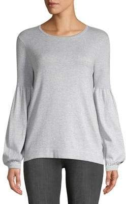 Lord & Taylor Balloon Sleeve Sweater Knit