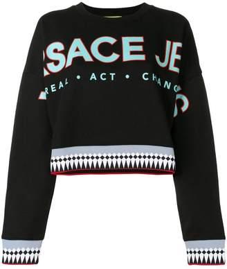 Versace logo patch sweatshirt