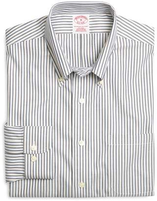 Brooks Brothers Supima Cotton Non-Iron Regular Fit Navy Stripe Twill Sport Shirt