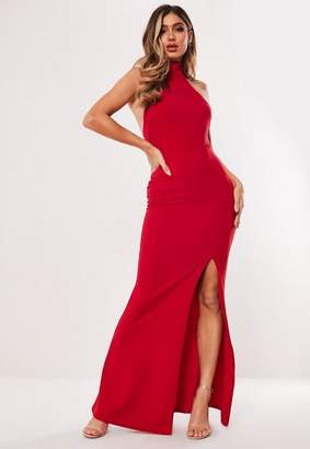 Missguided Red Choker Maxi Dress