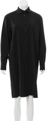 Burberry Knee-Length Wool Shirtdress