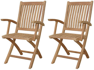 Tropico Folding Armchairs - Set of 2 - Anderson Teak