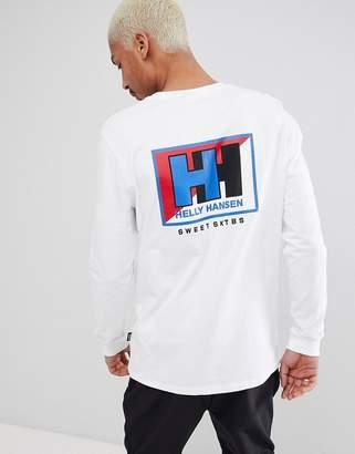 Helly Hansen Sweet Sktbs Sweet SKTBS x Long Sleeve T-Shirt With Back Print In White