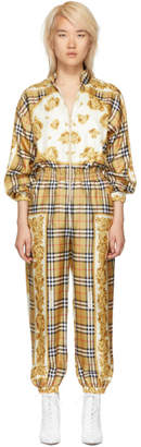 Burberry Yellow Check Jumpsuit