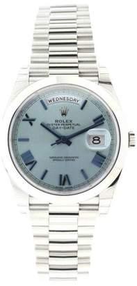 Rolex President 228206 Platinum Day-Date Ice Blue Quadrant Dial 40mm Watch