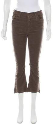 Mother Insider Crop Step Fray Mid-Rise Pant w/ Tags