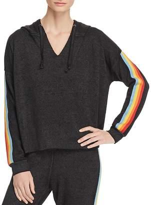 Vintage Havana Rainbow-Trim Hooded Sweatshirt