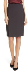 BOSS Venisia Mini Houndstooth Wool Pencil Skirt