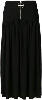 Givenchy front zipped skirt