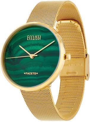 Ecclissi Facets Gemstone Dial Stainless Steel Watch