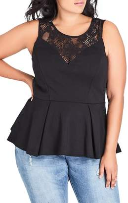 City Chic Riche Lace Sleeveless Top