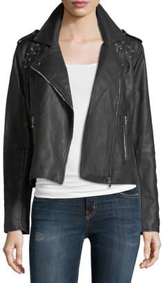 Brandon Thomas Lace-Up Faux-Leather Moto Jacket