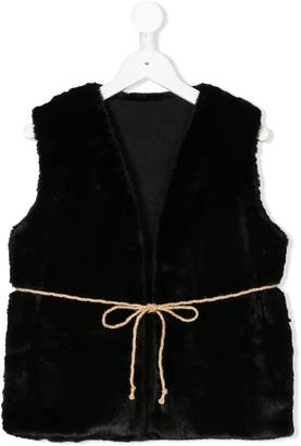 Factory Little Creative Kids faux fur tie gilet