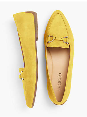 Talbots Francesca Driving Moccasins-Kid Suede