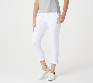 Factory Quacker French Terry Crop Pants with Fringe Detail