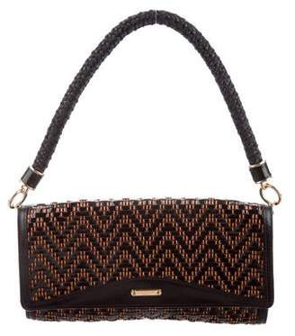 6920362ee5f1 Burberry Woven Patent Leather Shoulder Bag