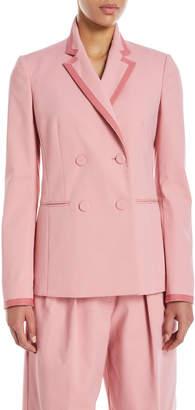 Sara Battaglia Double-Breasted Jacket w/Taping